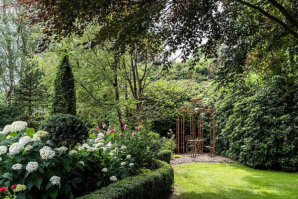 Blick in den Garten Landhof Tausendschön in Westerstede